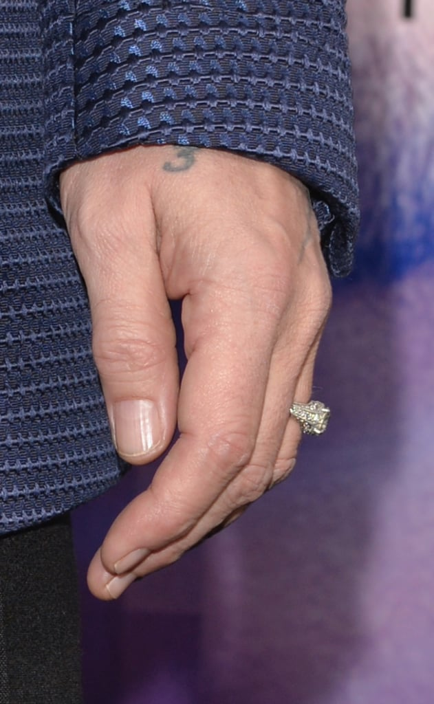 While Amber Heard filmed a new project in NYC, Johnny Depp showed his love by wearing the engagement ring he gave her.