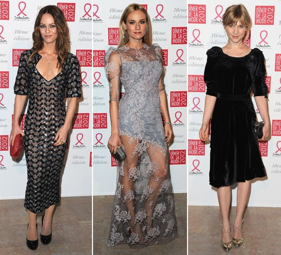 Pictures of Diane Kruger, Vanessa Paradis and Clémence Poésy at the 2012 Sidaction Gala