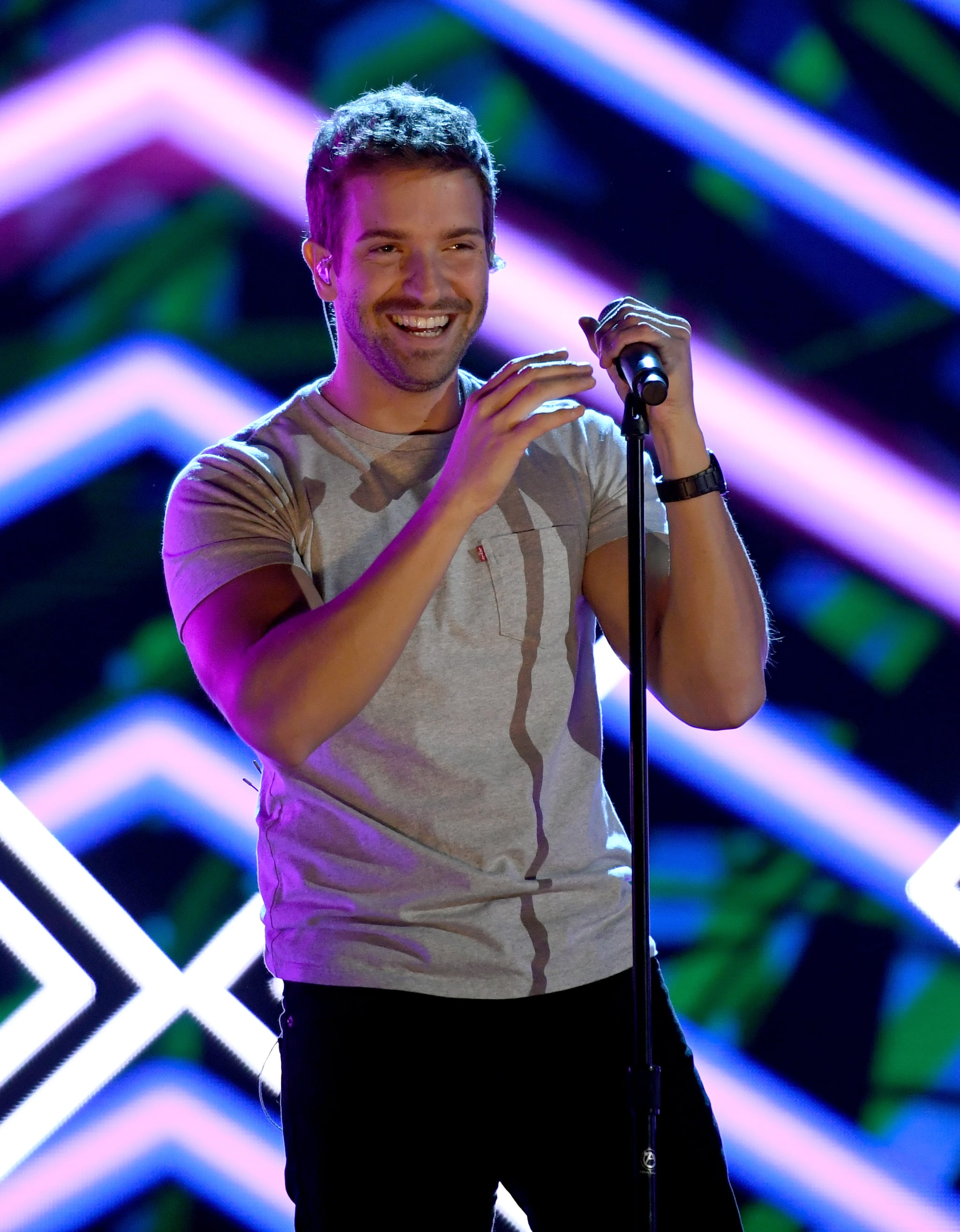 LAS VEGAS, NV - NOVEMBER 12:  Pablo Alboran performs onstage during rehearsals for the 19th annual Latin GRAMMY Awards at MGM Grand Garden Arena on November 12, 2018 in Las Vegas, Nevada.  (Photo by Ethan Miller/Getty Images for LARAS )