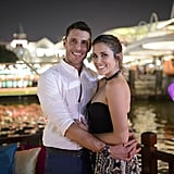 They Took in the Big City Lights During a Romantic Boat Ride . . .