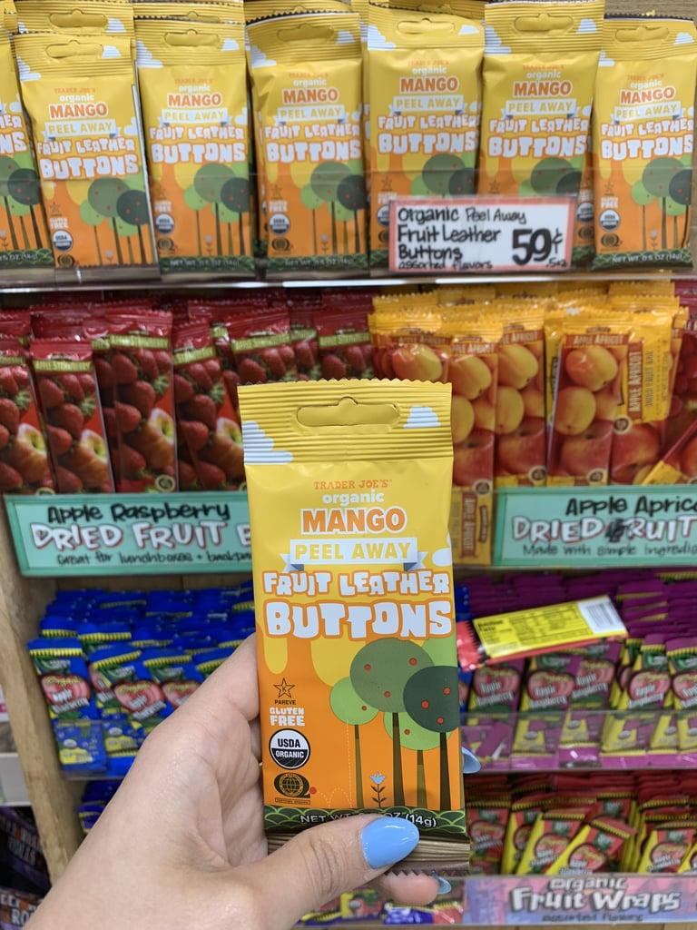 Trader Joe's Organic Mango Peel Away Fruit Leather Buttons
