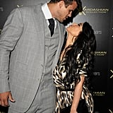 Kim Kardashian and Kris Humphries kiss.