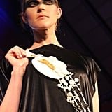 More wearable jewelry came to the runway with Dileksezen's designs.