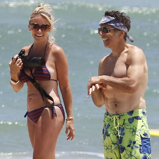 Shirtless Ben Stiller With His Family in Hawaii