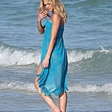 Erin Heatherton got her feet wet.