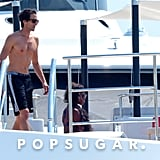 Adrien Brody hit the deck of a yacht during an August getaway to Ibiza.