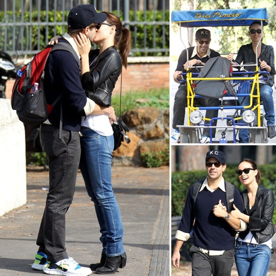 Olivia Wilde and Jason Sudeikis Kissing in Rome | Pictures
