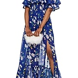 Topshop Blair Floral Off-the-Shoulder Maxi Dress
