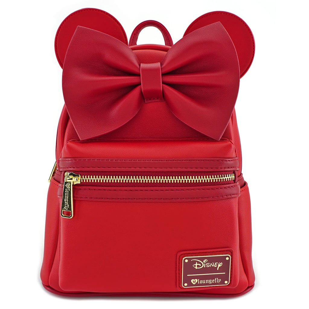 b167d02aa8 Loungefly x Red Minnie Ears   Bow Red Faux Leather Mini Backpack ...