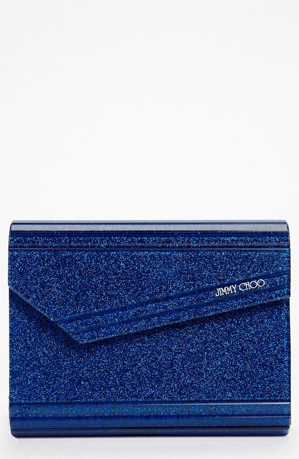 Allover glitter can pigeonhole itself as the exclusive domain of New Year's Eve and birthday bashes. Smartly, Jimmy Choo's navy take on the trend ($725) feels a bit more somber, marking it as an easy grab for your next happy hour meetup with girlfriends.