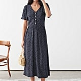 & Other Stories Gathered Flutter Sleeve Maxi Dress