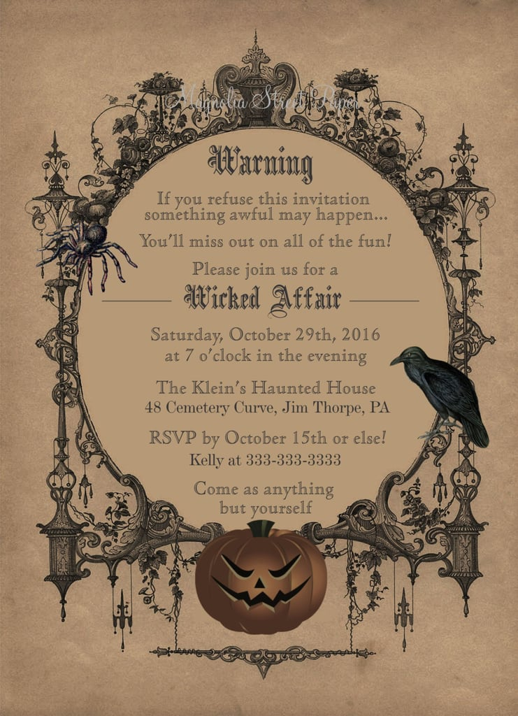 photo relating to Halloween Invitation Printable called Printable \
