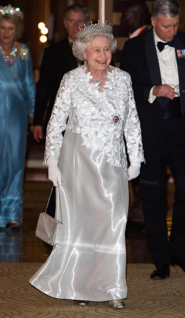 Arriving for the Queen's Banquet for Commonwealth Heads of Government on November 23, 2007 in Kampala, Uganda.
