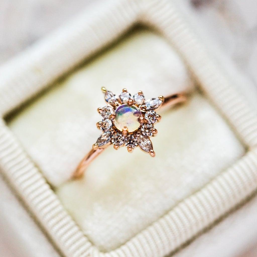 Skylar Ring With Opal