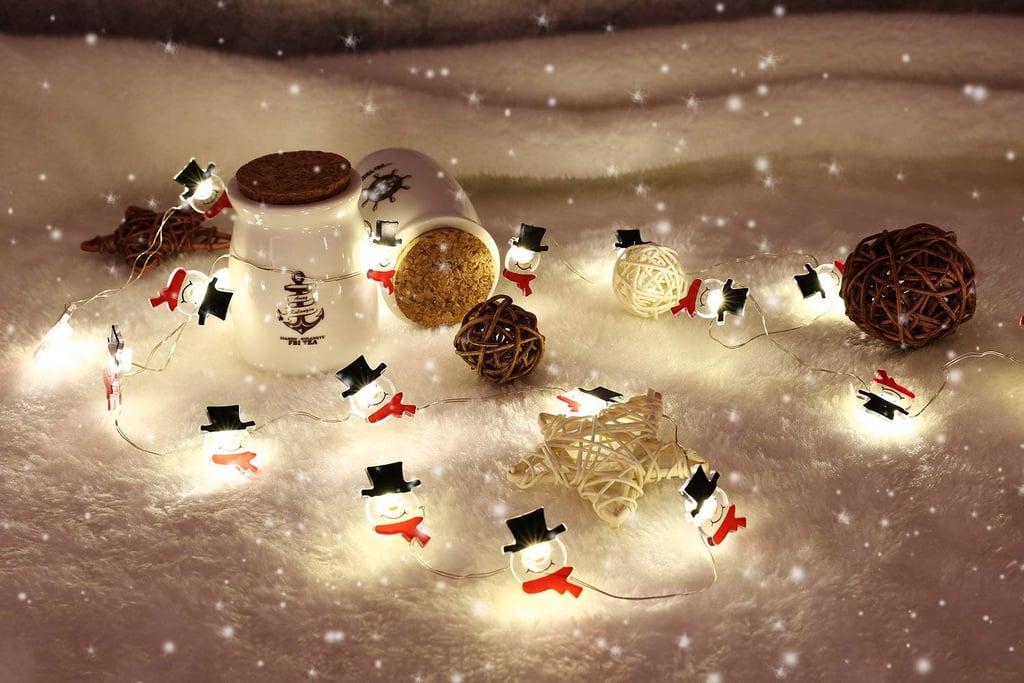 Snowman String Lights