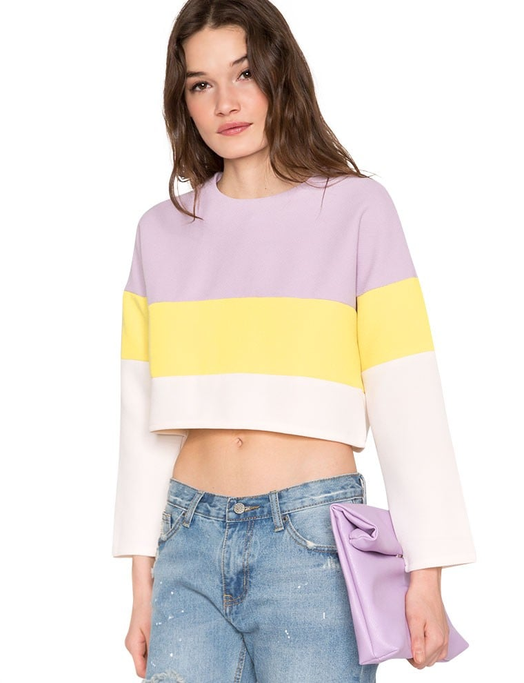 Pixie Market Pastel Crop Top ($39)