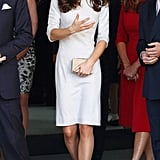 Kate Middleton talked on her way into a London hospital.