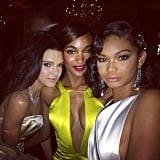 Kendall Jenner buddied up with Chanel Iman and Jourdan Dunn.  Source: Instagram user chaneliman