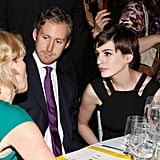 Anne Hathaway and Adam Shulman stuck close during the event.