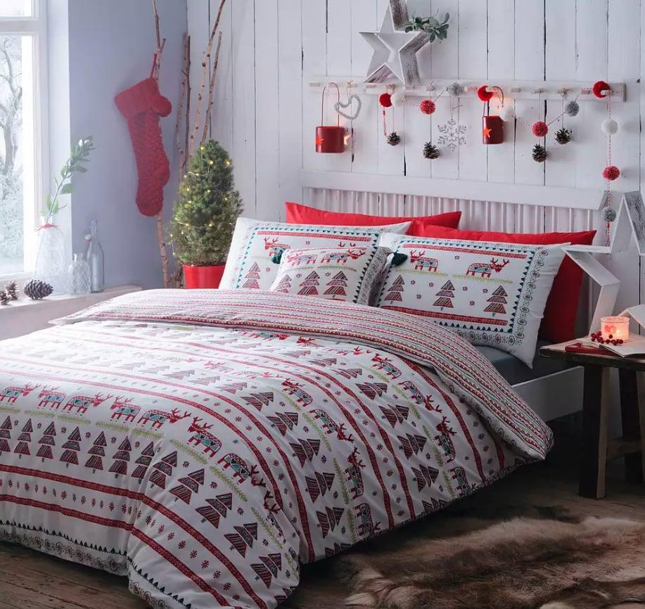 Debenhams Multicoloured Christmas Scene Duvet Set
