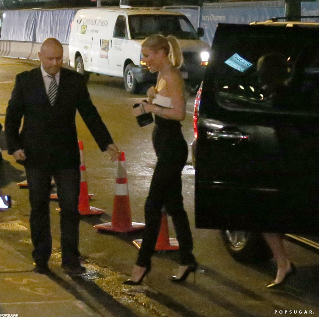 Gwyneth Paltrow arrived to her NYC 40th birthday dinner.