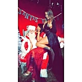 Khloé Kardashian took a scandalous picture on Santa's lap.