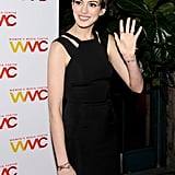 Anne Hathaway and Adam Shulman at Women's Media Awards