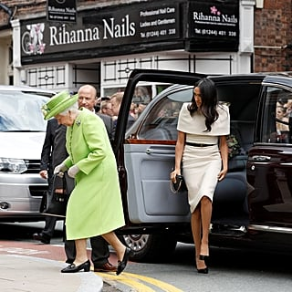 Meghan Markle and the Queen Getting Into Car Video June 2018