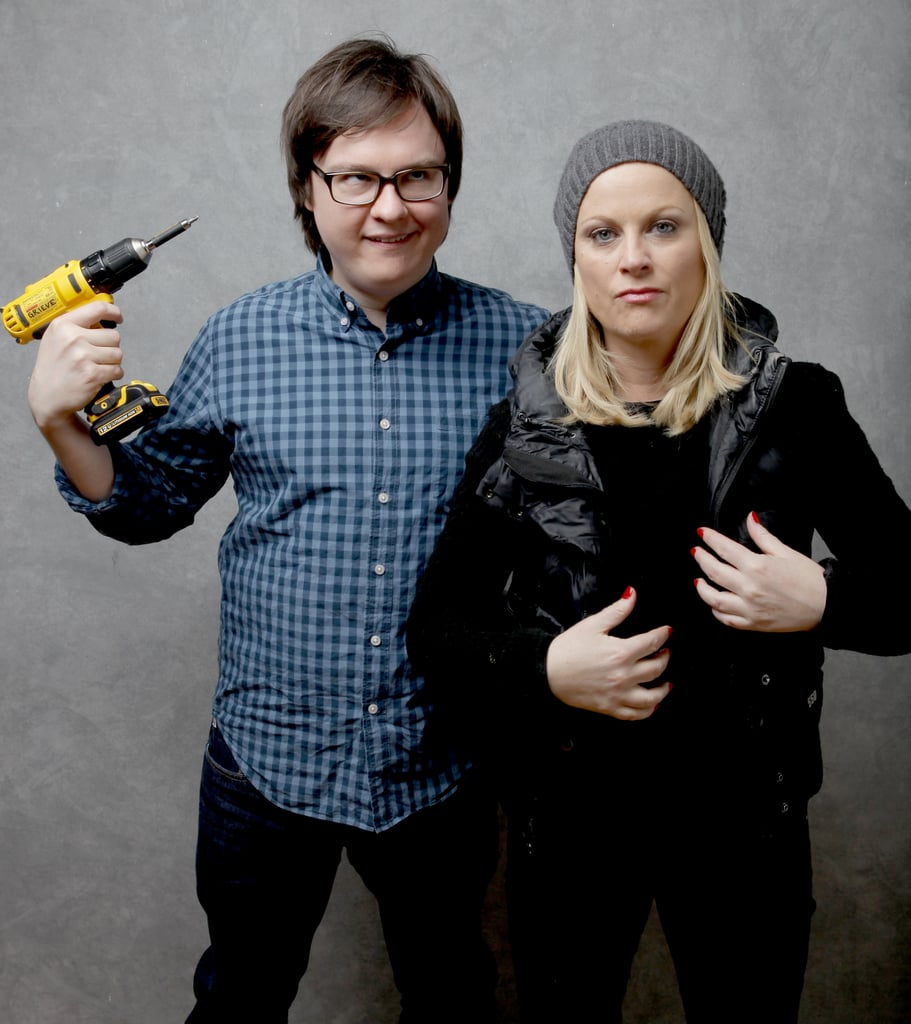A.C.O.D's Clark Duke and Amy Poehler knew how to play with props in their photo shoot.