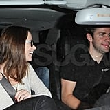 Emily Blunt and John Krasinski at the Chateau Marmont in LA.