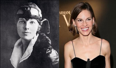 Hilary Swank to Play Amelia Earhart