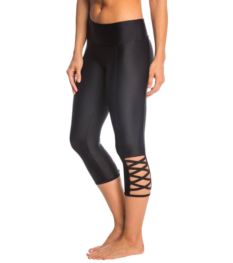 Onzie Weave Yoga Capri Leggings