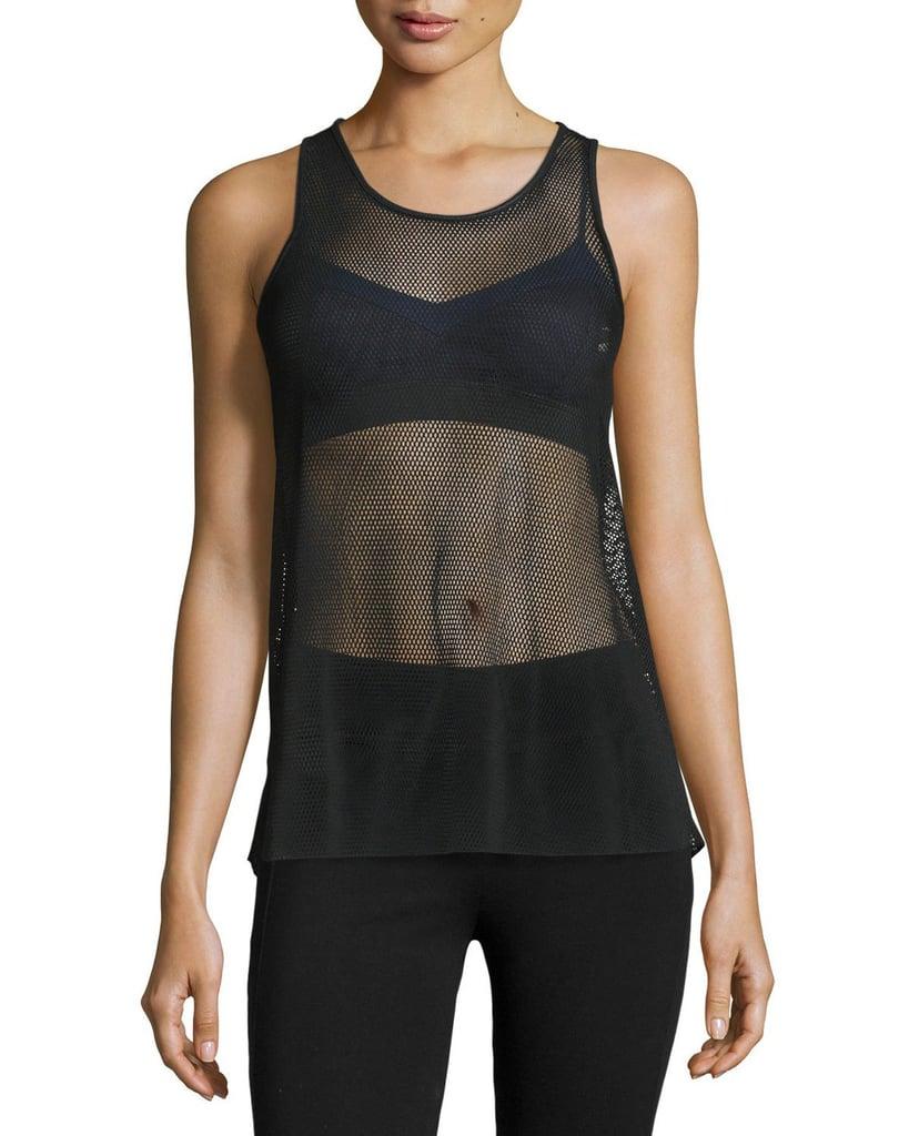 Alo Yoga Lucid Mesh Sport Tank in Black