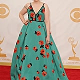 """Lena Dunham Channels """"the Delia's catalogue"""" For Her Emmys Red Carpet Look"""