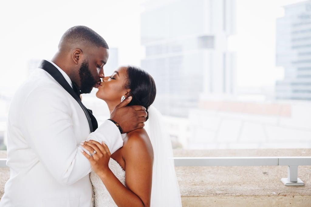 Elegant Black, White, and Gold Wedding