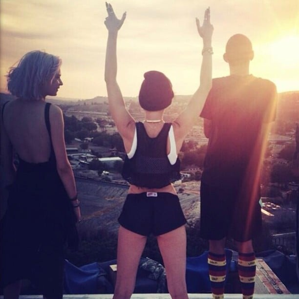 Miley Cyrus took in the sunset with a few friends. Source: Instagram user mileycyrus