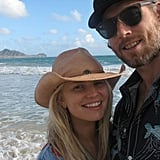 Jessica Simpson shared a vacation photo of herself and fiancé Eric Johnson during their trip to Hawaii.  Source: Twitter user JessicaSimpson