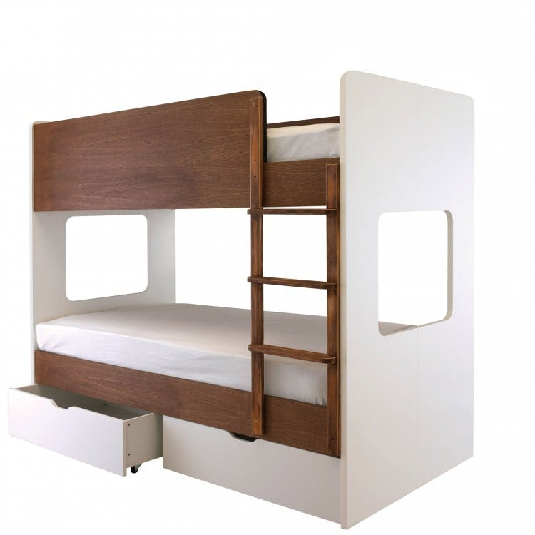 Aspace coco bunk bed modern bunk beds for kids for Modern kids furniture