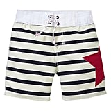 Gap's striped swim trunks ($20) come in sizes for baby boys 0-24 months old.