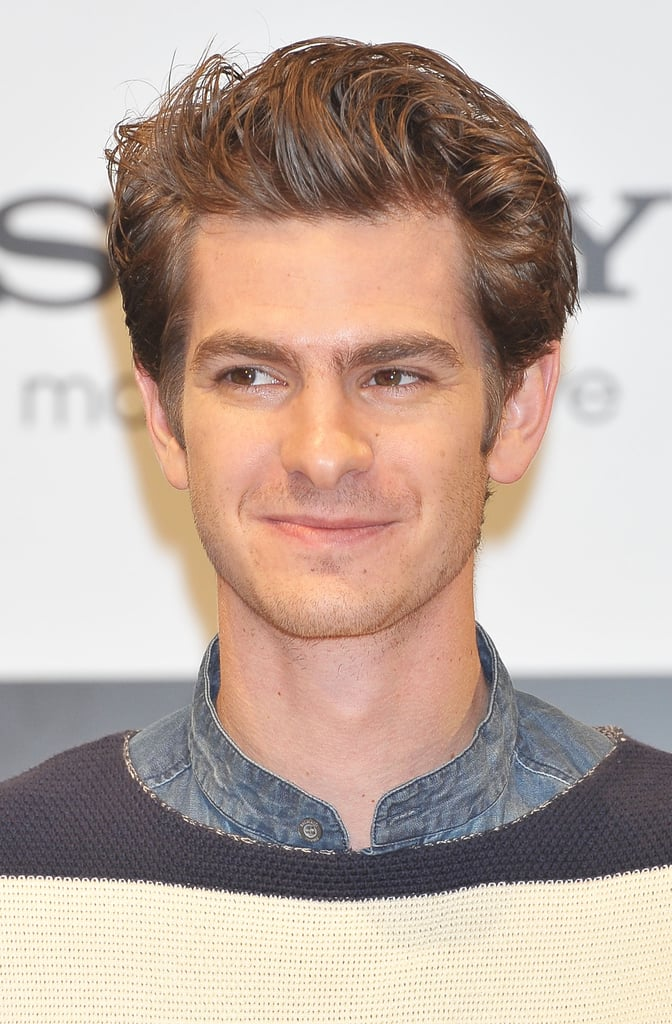 Andrew Garfield attended the press conference for The Amazing Spider-Man in Japan.
