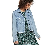 POPSUGAR at Kohl's Frayed Cropped Jean Jacket