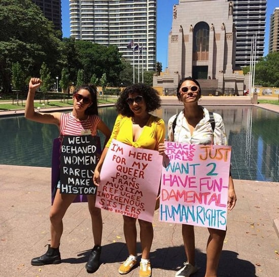 Pictures of the 2018 Women's March in Australia