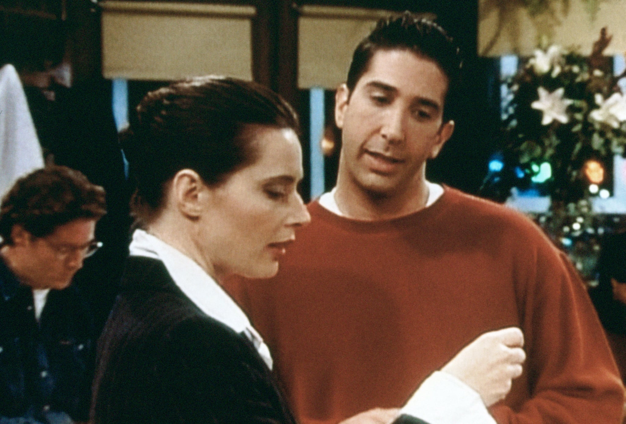 FRIENDS, (from left): Isabella Rossellini, David Schwimmer, 'The One With Frank Jr.', (Season 3, aired Oct. 17, 1996), 1994-2004,  Warner Bros. / Courtesy: Everett Collection