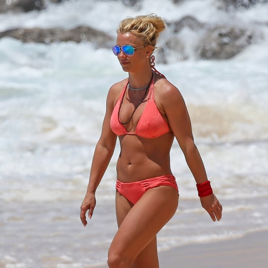 Britney Spears in Bikini on the Beach in Hawaii April 2017