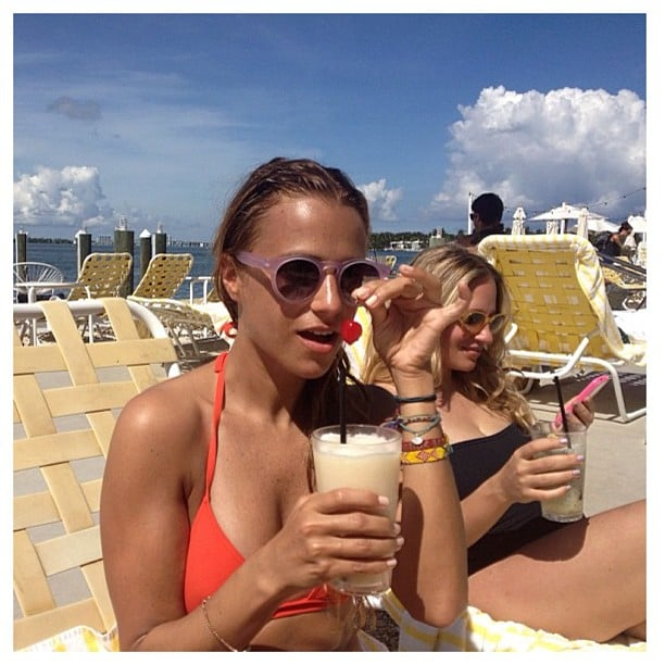 Charlotte Ronson relaxed on a beach vacation. Source: Instagram user cjronson