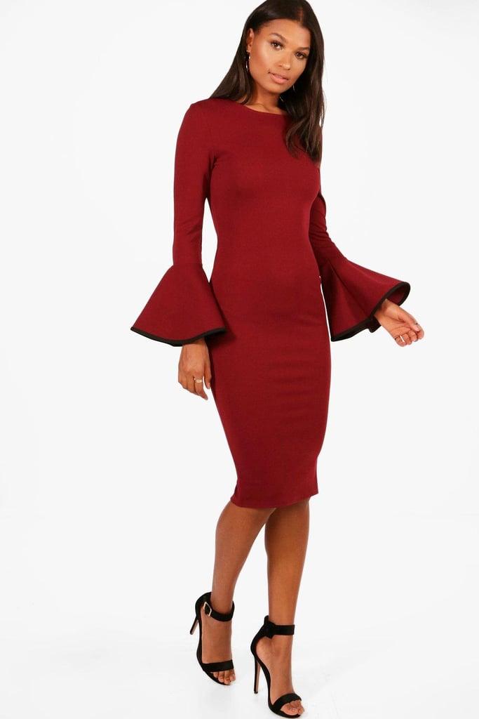 08b36a89caec Boohoo Dress | Margot Robbie's Red Dress at a Wedding | POPSUGAR ...