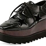 Stella McCartney Elyse Stars Faux-Leather Platform Creeper, Black ($1,080)