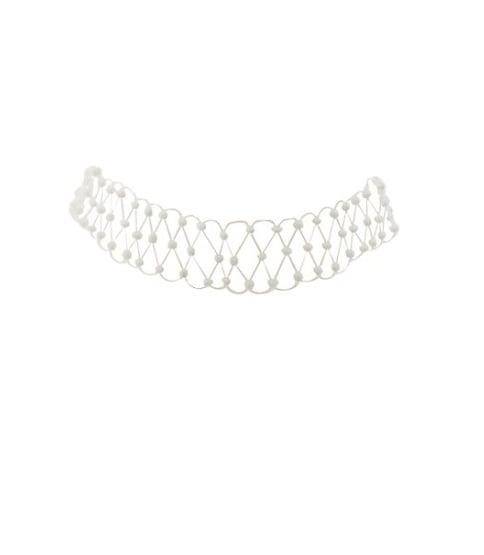 Beaded Tattoo Choker Necklace