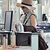 Diane Kruger went through security.