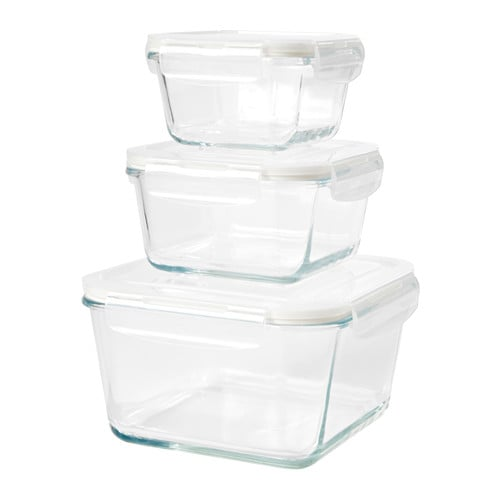 Glass Food Containers  sc 1 st  Popsugar & Glass Food Containers | Ikea Kitchen Organisation | POPSUGAR Home ...